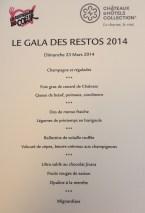menu Chateaux & Hotels Collection Restos du Coeur PACA