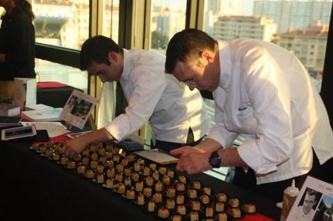Michel Hulin, La Cabro d'Or, bouchée de foie gras, poutargue en gelée d'agrumes