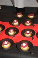 Les bouchées de Ronan Kervarrec, La Chèvre d'Or, Raviole de Poutargue aux zestes d'oranges du pays, volaille confite aux olives