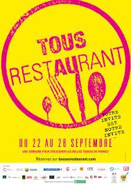 Tous au Restaurant, du 22 au 28 septembre 2014