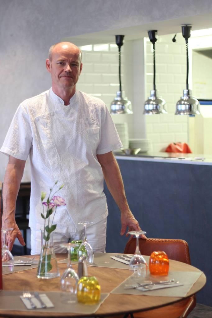 Jean-Claude Taillard, chef et gérant du Café Telline