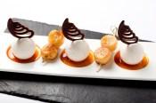 Parfait glacé vanille, réduction passion et gingembre, La Badiane, Sainte-Maxime