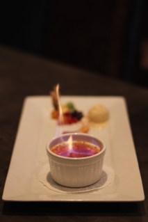 La Crème flambée au safran de Sillans-la-Cascade