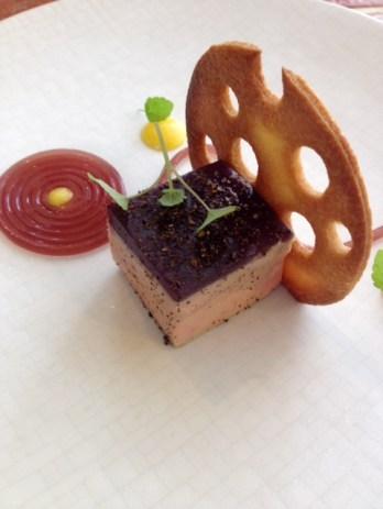 Foie gras au vin rouge de Saint-Tropez