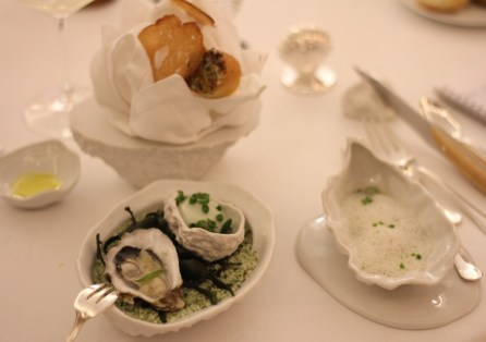 """Variation sur l'huître Tarbouriech """"la perle rose de méditerranée"""""""
