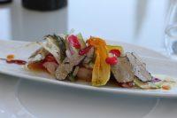 Salade de Homard, truffe d'été, Asperges et tomates confites