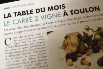 La table du mois, sélectionnée par Le Var des Gastronomes