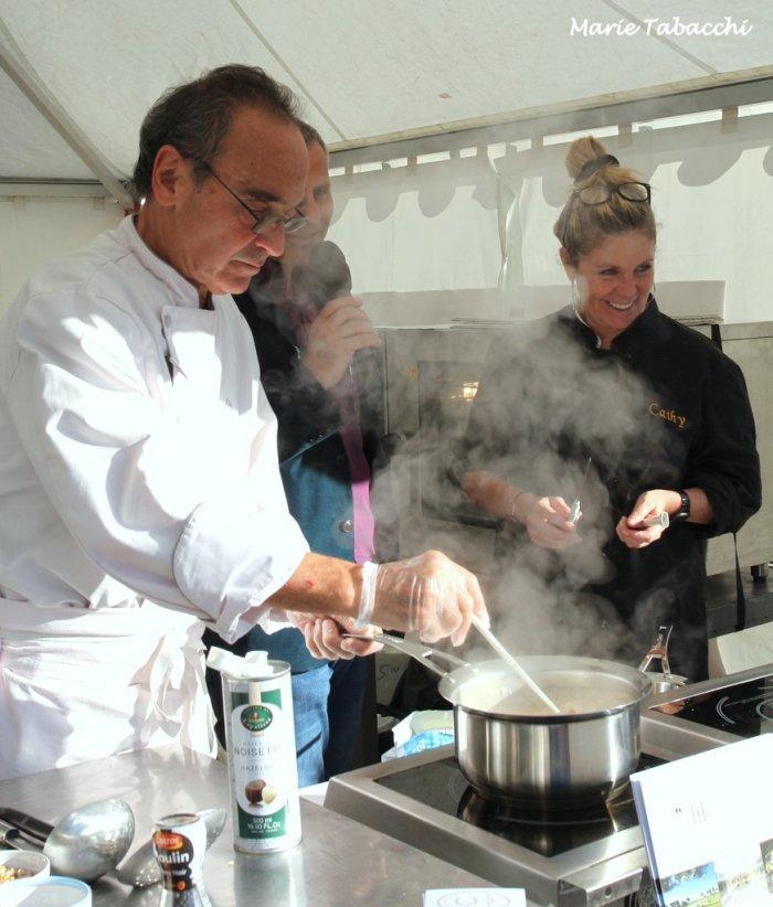 Alain Biles et Cathy Graufogel aux fourneaux de l'Automne des Gourmands au Beausset