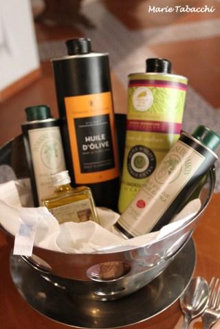 Dégustation d'huiles d'olives
