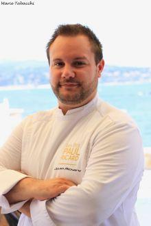 Julien Richard, chef des restaurants de l'île de Bendor