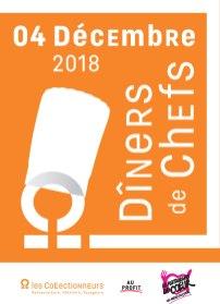 Diner de Chefs Les Collectionneurs Restos du Coeur 2018
