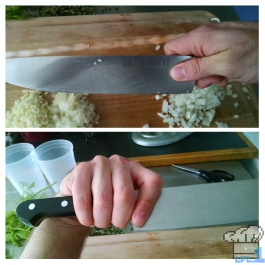 Proper handling of a knife will result in less injuries during the cooking process.