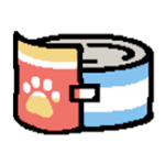 A pixel sprite image of the Bonito Bitz cat food item from the Neko Atsume mobile game series.
