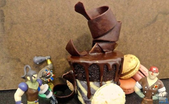 Finished recipe of Chocolate Cannon Car from the Dessert Train in the Legend of Zelda Spirit Tracks game series.