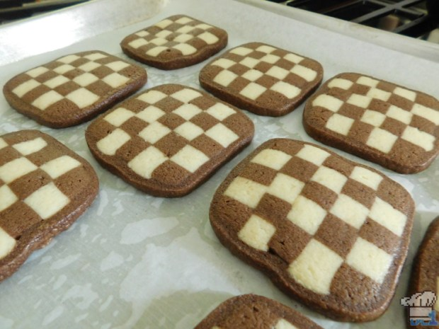 Fresh baked checkerboard cookies for the Succulent Mattress recipe from the Pikmin 2 video game
