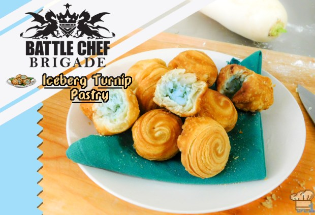 the finished iceberg turnip pastry recipe from the battle chef brigade video game
