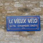 Panneau gîte chambres d'hôtes Le Vieux Vélo