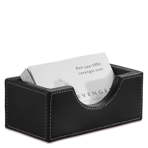 Morgan Business Card Holder   Leather Business Card Holder   Levenger Morgan Business Card Holder  Black