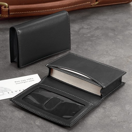 Card Wallet   Business Card Holder  Leather Card Holder  Card Case     Card Wallet  Black