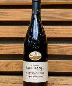 Vin rouge cru du Beaujolais Moulin à Vent Vignes du tremblay Domaine Paul Janin & fils