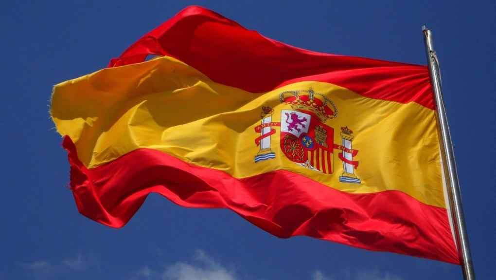 Drapeau espagnol et vin d'Espagne