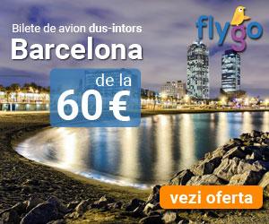 Bilet de avion dus-intors Barcelana de la 60 Euro