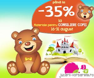 Materiale pentru consiliere copii, pana la 35% reducere!