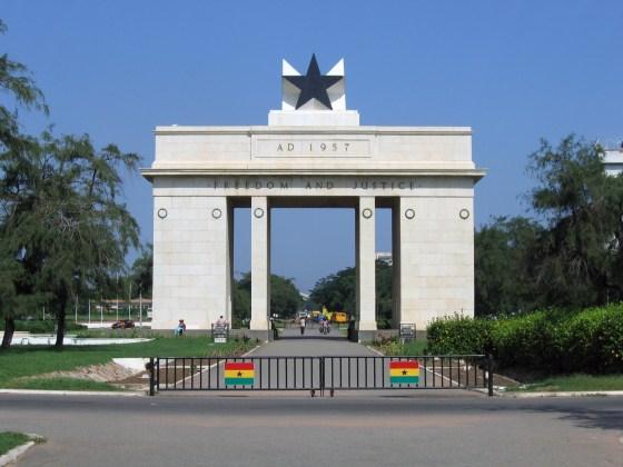 Le Black Star Monument, sur la place Independance Square, Accra, Ghana