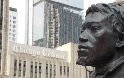 La statue de Jean-Baptiste Pointe DuSable à Chicago