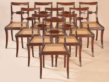 SET OF TEN SIDE CHAIRS
