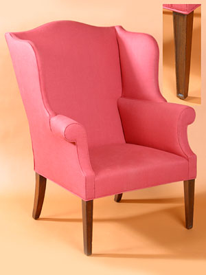 FEDERAL MOLDED STRAIGHT LEG WING CHAIR