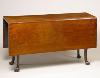 RARE QUEEN ANNE DROP-LEAF TABLE WITH FOUR SWING LEGS