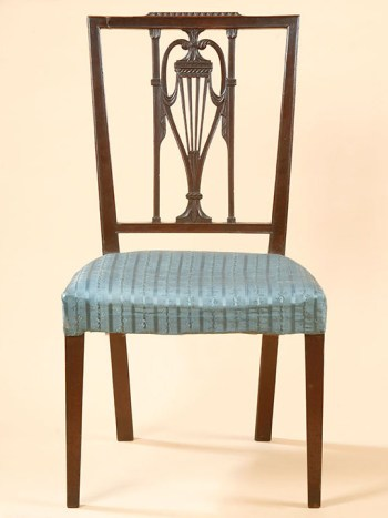 SET OF SIX FEDERAL SHERATON SIDE CHAIRS