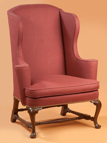 QUEEN ANNE WING CHAIR Massachusetts