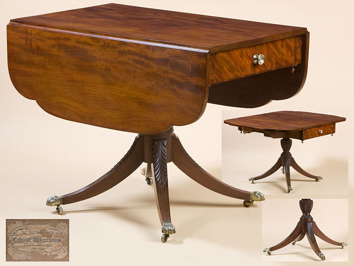FEDERAL SINGLE PEDESTAL LIBRARY TABLE by Michael Allison