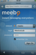 Touch Friendly Meebo