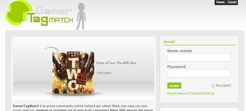 GamerTagMatch - Homepage
