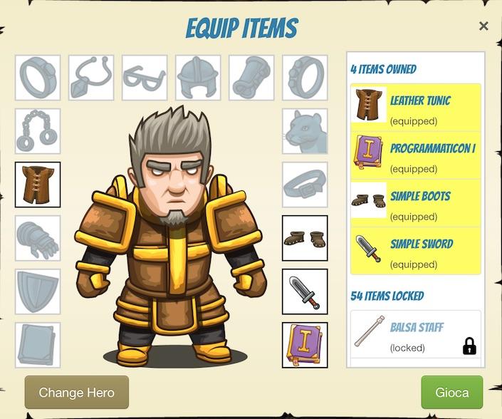 Code Combat - Personaggio