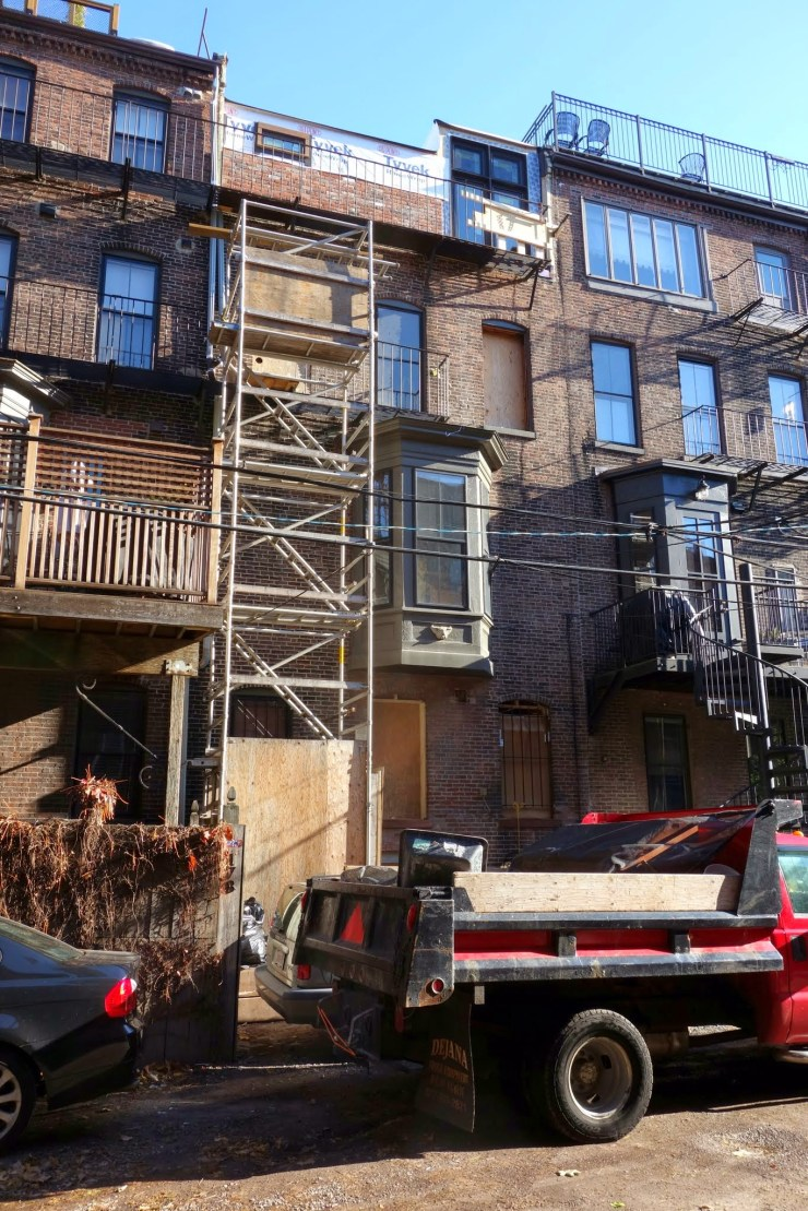 2014-11-21 alley elevation - click to go to Construction Photos album