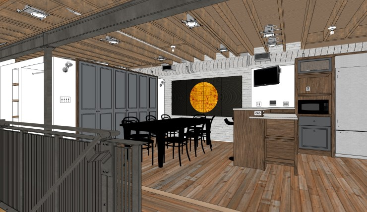 CAD model with artwork