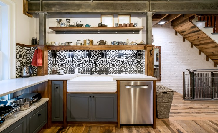 Kitchen, Street Level (Photo: Jon Moore) - click to go to Finished Project album