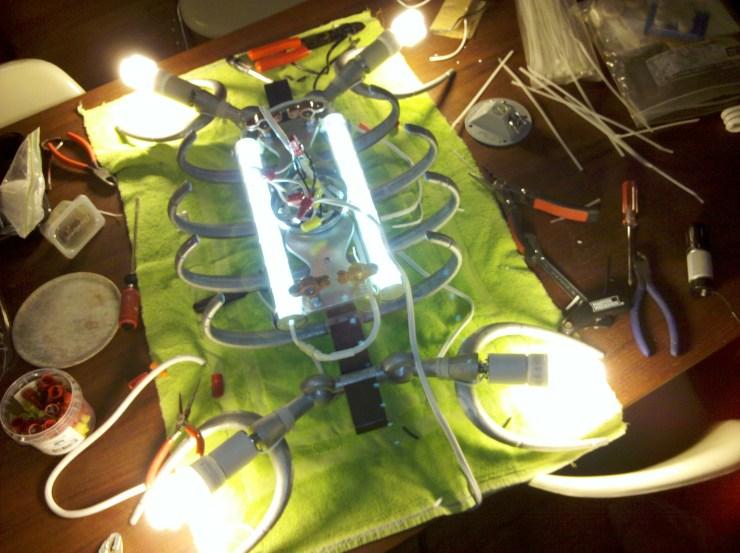 Plesiosaur lighting test (2011)