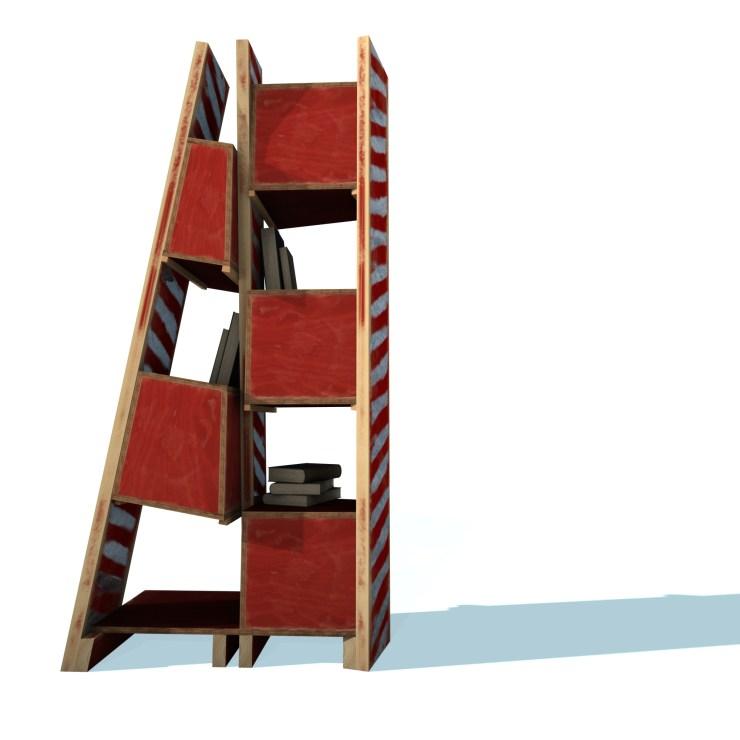 Not a bookshelf (2010) rendering, rear view