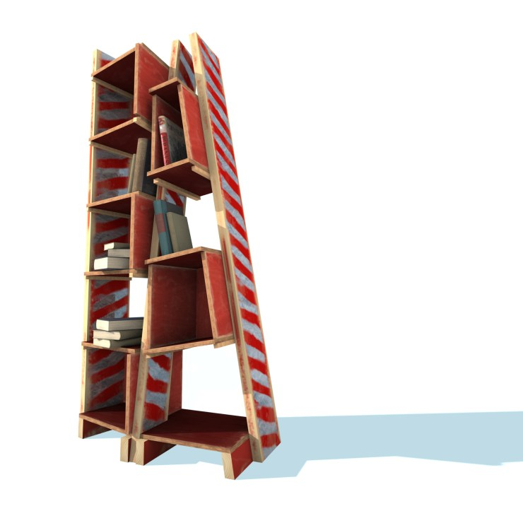Not a bookshelf (2010) rendering, front view