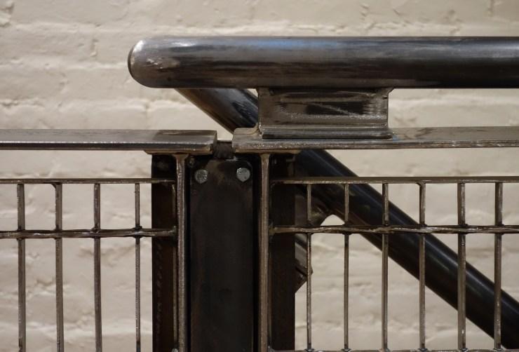 Subway Grate Guardrail (2016) installed, rail detail