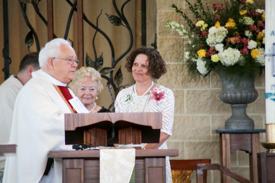 Msgr. Lewis, Anne Stahel, Marilyn Stuit
