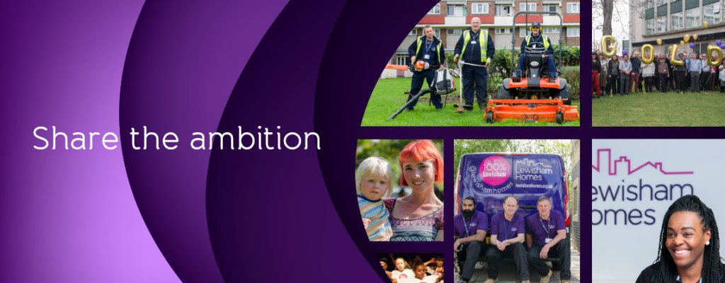 Banner image of staff from across the organisation