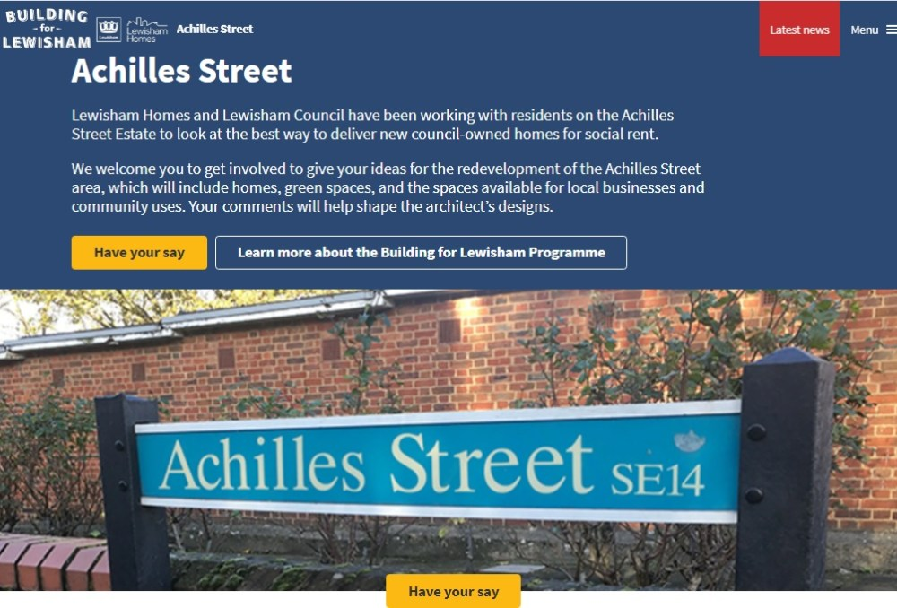 A screenshot of the homespage of the Achilles St Commonplace website