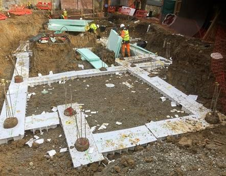 Foundations at Knapdale Close