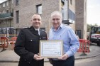 Receiving commendation from LFB for our work to improve fire safety